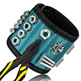 Glunlun Magnetische Armbänder, Magnetarmband mit 5 leistungsstarken Magneten Magnet Armbänder verstellbares Klettband zum Halten von Werkzeugen, Schrauben, Nägel, Schrauben, Dübel, Bohrungen etw