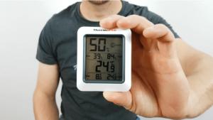ThermoPro während des Hygrometer Test